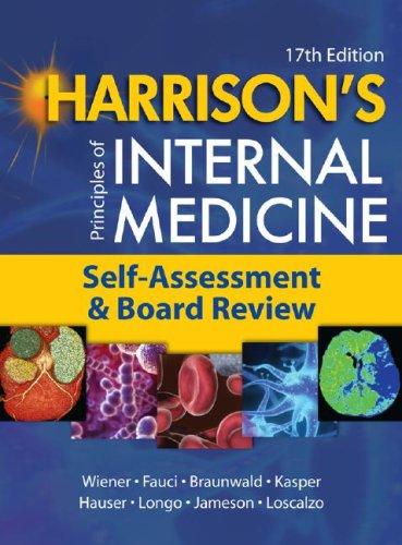 Harrison's Principles of Internal Medicine, Self-Assessment and Board Review  17th 2008 edition cover