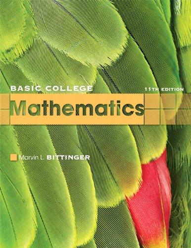 Basic College Mathematics  11th 2010 edition cover