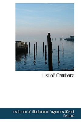 List of Members N/A 9781113445193 Front Cover