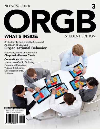 ORGB 3  3rd 2013 (Student Manual, Study Guide, etc.) edition cover