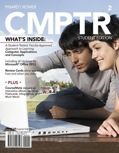 Cmptr + Computing Coursemate + Ebook Printed Access Card:   2013 9781285096193 Front Cover