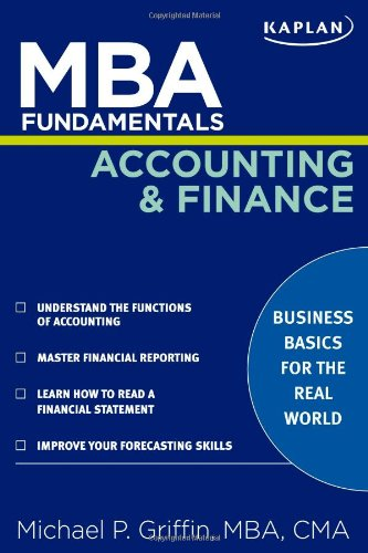 MBA Fundamentals Accounting and Finance   2009 edition cover