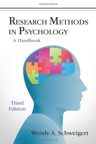 Research Methods in Psychology A Handbook 3rd 2011 edition cover