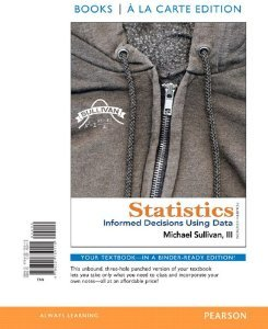Statistics Informed Decisions Using Data 4th 2013 edition cover