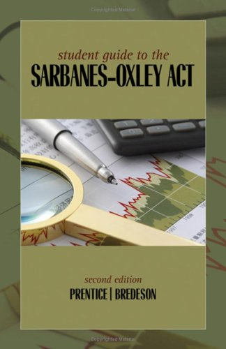 Student Guide to the Sarbanes-Oxley Act  2nd 2010 edition cover