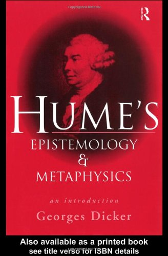 Hume's Epistemology and Metaphysics An Introduction  1998 9780415163194 Front Cover