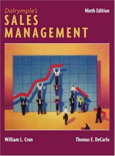 Dalrymple's Sales Management Concepts and Cases 9th 2006 (Revised) 9780471743194 Front Cover