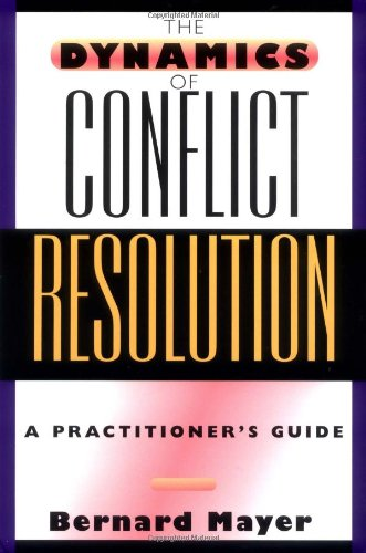 Dynamics of Conflict Resolution A Practitioner's Guide  2000 edition cover
