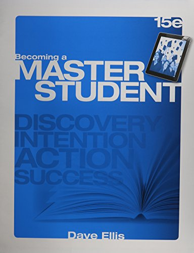 Becoming a Master Student  15th 2015 edition cover