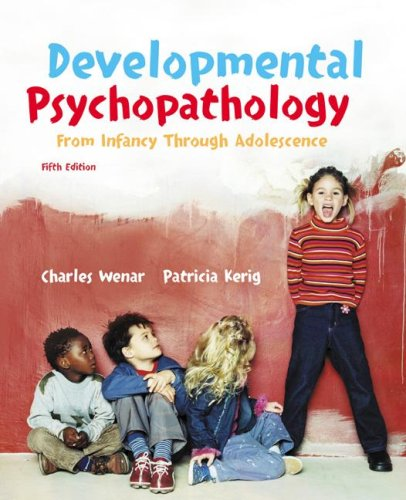 Developmental Psychopathology  5th 2006 edition cover