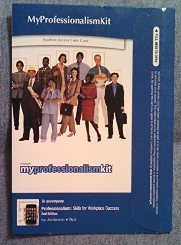 MyProfessionalismKit Student Access Code Card (for Valuepacks)  2nd 2011 9780135123195 Front Cover