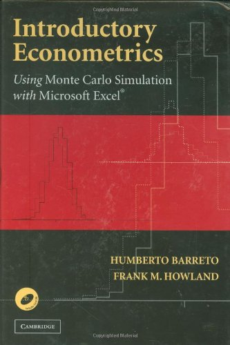 Introductory Econometrics Using Monte Carlo Simulation with Microsoft Excel  2006 edition cover