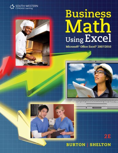 Business Math Using Excel�  2nd 2012 9780538731195 Front Cover