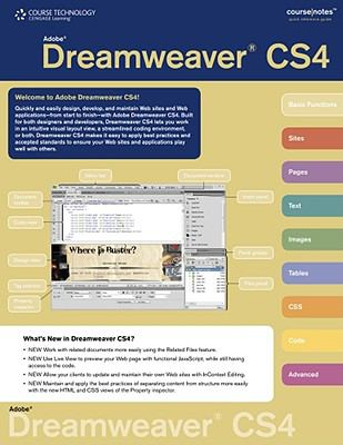 Adobe Dreamweaver CS4 CourseNotes   2010 9780538786195 Front Cover