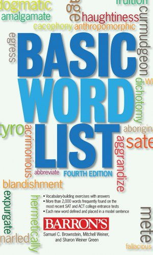 Basic Word List  4th 2009 (Revised) edition cover