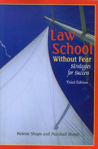 Law School Without Fear - Strategies for Success  3rd 2009 (Revised) edition cover