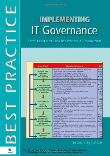 Implementing IT Governance A Practical Guide to Global Best Practices in IT Management  2008 edition cover