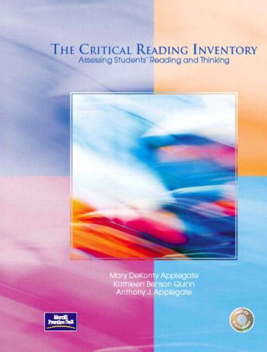 Critical Reading Inventory Assessing Students' Reading and Thinking  2004 edition cover