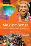 Making Sense in the Social Sciences: A Student's Guide to Research and Writing  2015 edition cover