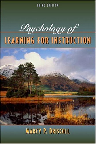 Psychology of Learning for Instruction  3rd 2005 (Revised) edition cover