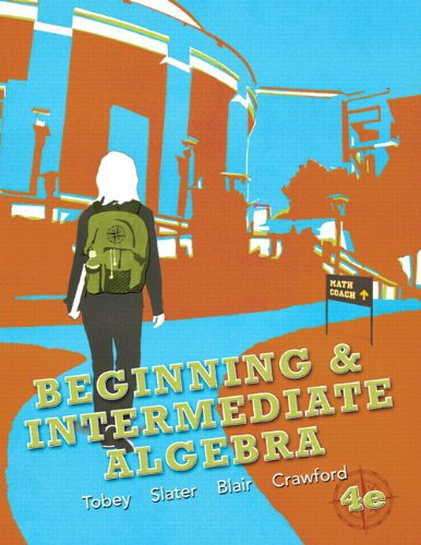 Beginning and Intermediate Algebra  4th 2013 edition cover