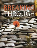 Breaking Through: College Reading  2015 edition cover