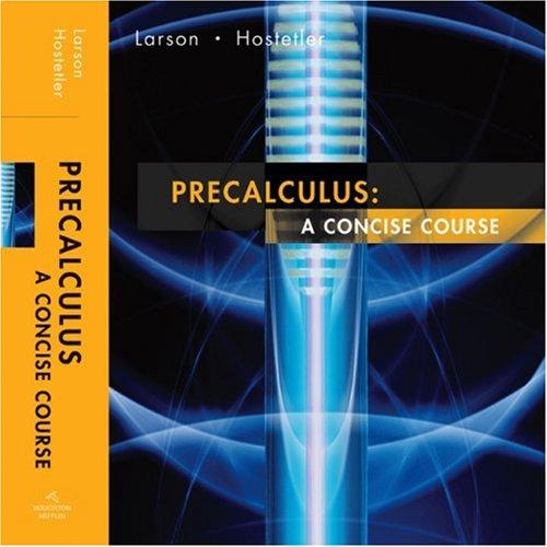 Precalculus A Concise Course  2007 edition cover