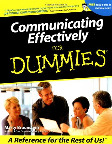 Communicating Effectively for Dummies   2001 edition cover