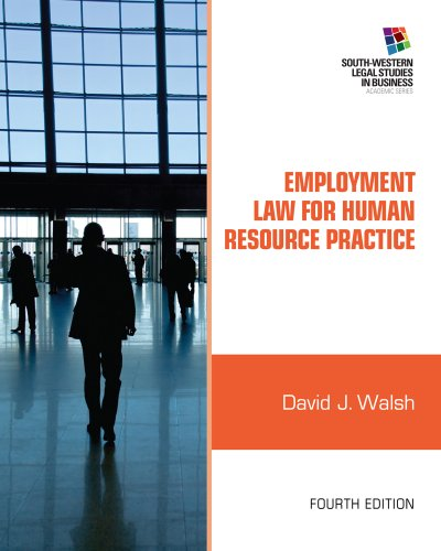 Employment Law for Human Resource Practice  4th 2013 edition cover