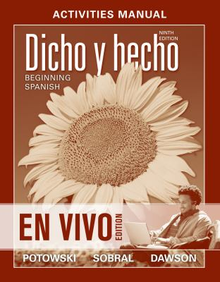 Dicho en Vivo Beginning Spanish  2013 edition cover