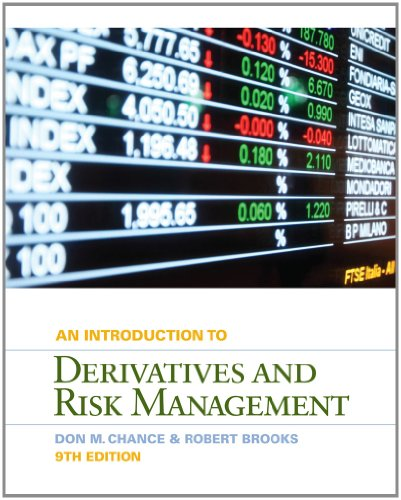 Introduction to Derivatives and Risk Management (with Stock-Trak Coupon)  9th 2013 edition cover