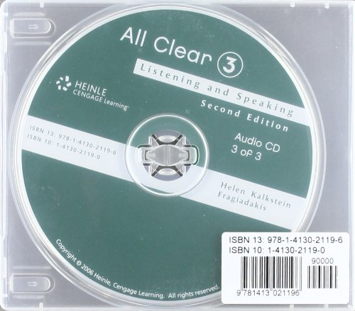 All Clear Advanced 2e-Std Audio  2nd 2006 9781413021196 Front Cover