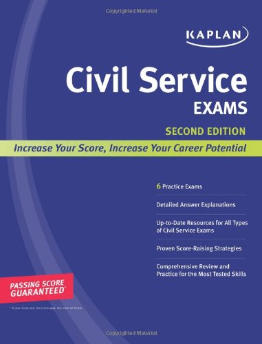 Kaplan Civil Service Exams  2nd 2008 edition cover