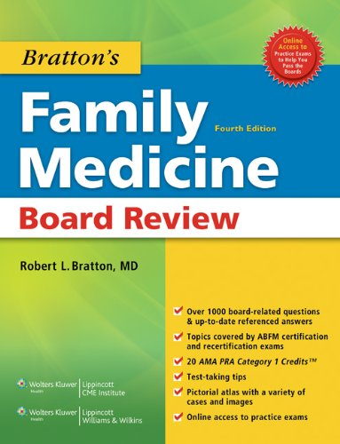 Bratton's Family Medicine Board Review  4th 2010 (Revised) 9781608317196 Front Cover