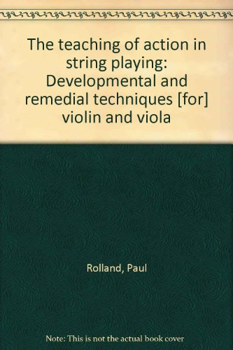 Teaching of Action in String Playing   2010 edition cover