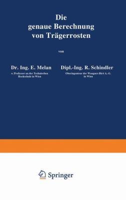 Die Genaue Berechnung Von Tr�gerrosten   1942 9783709197196 Front Cover