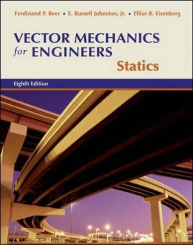 Vector Mechanics for Engineers Statics 8th 2007 (Revised) edition cover