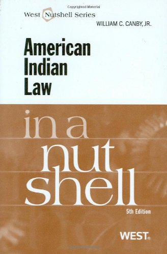 American Indian Law in a Nutshell, 5th  5th 2009 (Revised) edition cover