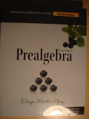 Prealgebra  6th 2010 edition cover