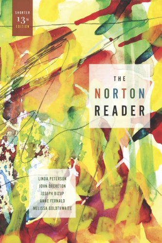 Norton Reader An Anthology of Nonfiction 13th 2012 edition cover