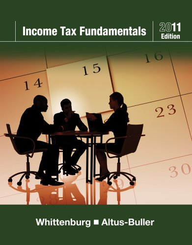 Income Tax Fundamentals 2011  29th 2011 9780538469197 Front Cover