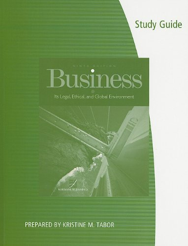 Business Its Legal, Ethical, and Global Environment 9th 2012 9780538472197 Front Cover