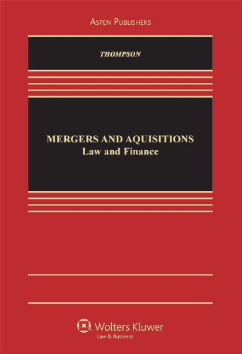 Mergers and Acquisitions Law and Finance  2010 edition cover
