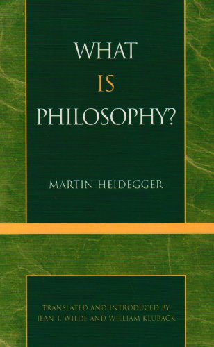 What Is Philosophy?  N/A edition cover