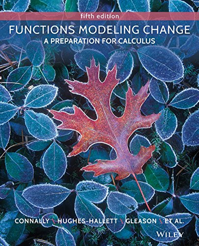 Functions Modeling Change: A Preparation for Calculus 5th 2014 edition cover