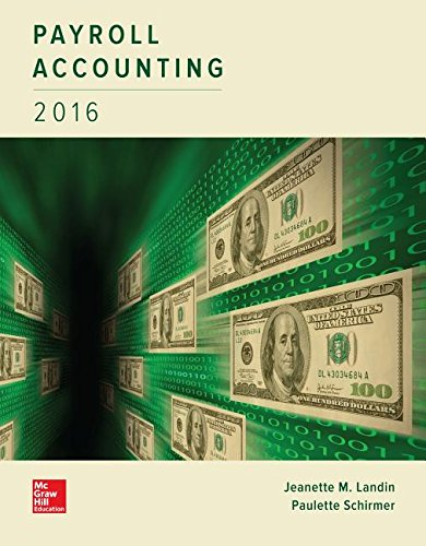 Payroll Accounting 2016:   2015 9781259572197 Front Cover