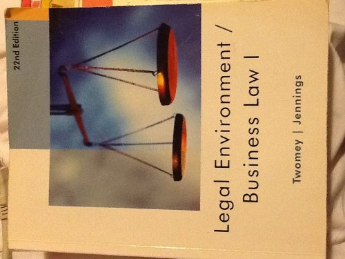 LEGAL ENVIRON./BUSINESS LAW I >CUSTOM<  N/A edition cover