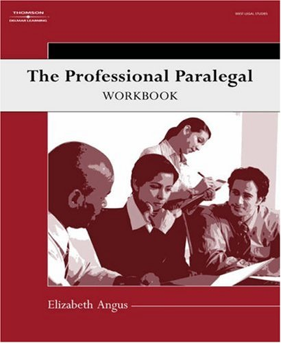 Professional Paralegal Workbook   2007 9781401889197 Front Cover