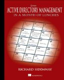 Learn Active Directory Management in a Month of Lunches   2013 edition cover