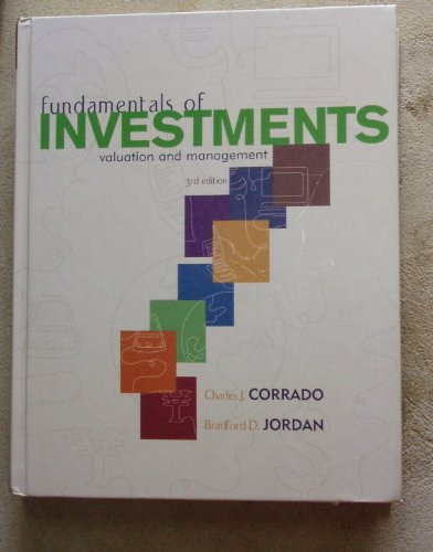 Fundamentals of Investments : Valuation and Management 3rd 2005 edition cover